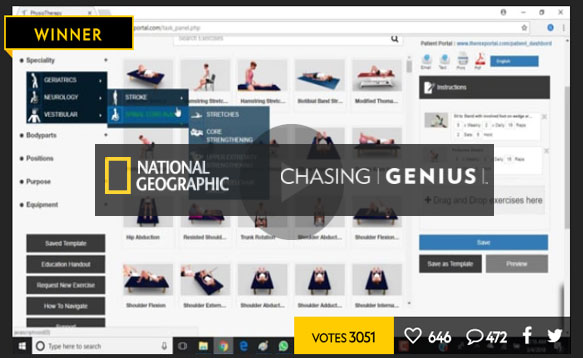 Prestigious National Geographic Chasing Genius Award